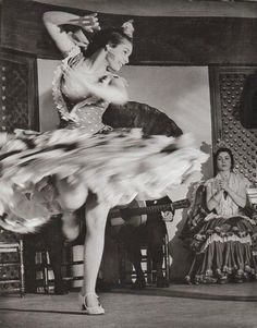"Found this wonderful photo of a 1950s flamenco dancer, and quote from Rumi on the web page Ravenous Butterflies. ""Dance, when you're broken open. Dance, if you've torn the bandage off. Dance in the middle of the fighting. Dance in your blood. Dance when you're perfectly free."" Rumi Spanish, Flamenco Dancer 1956"