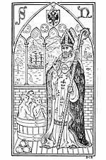 Walking St Nicholas coloring page