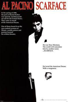Scarface 1983 - Brian de Palma - Al Pacino / Steven Bauer / Michelle Pfeiffer Scarface Film, Scarface Poster, Classic Movie Posters, Classic Movies, Film Posters, Movie Posters For Sale, Poster Frames, Iconic Movies, Vintage Movies