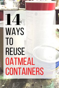 Check out these easy and cheap ideas to reuse oatmal cans and make beautiful home decor ideas on a budget. Check out these cool and creative things to do with oatmeal cans. #hometalk Craft Tutorials, Diy Projects, House Projects, Oatmeal Canister, Oatmeal Container, Organizing Hair Accessories, Creative Things, Creative Ideas, Magazine Holders