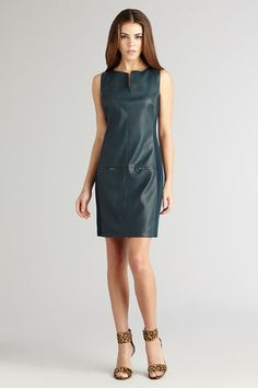 Donna Morgan dark teal faux leather dress – Bella Jules Fashion Boutique
