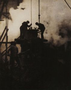 Alvin Langdon Coburn  The Tunnel Builders  New York, 1908  Gum platinum print  From Alvin Langdon Coburn: Photographs 1900-1924