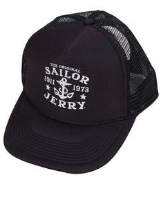 Sailor Jerry Trucker Hat Black Sailor Jerry 5578d8d27674