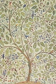 Textile piece by J Ginzkey, produced by C F A Voysey in 1903