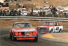 Under 2.5 SCCA TRANS-AM Horst Kwech Alfa Romeo vs John Morton BRE Datsun 510
