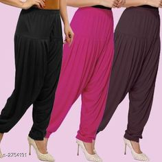 Ethnic Bottomwear - Patiala Pants Fabulous Viscose Women's Patiala Pants Combo Fabric: Viscose Waist Size : XL - Up To 24 in To Up To 32 in XXL - Up To 26 in To Up To 34 in Length: Up To 40 in Type: Stitched Description: It Has 3 Pieces Of Women's Patiala Pants Pattern: Solid Country of Origin: India Sizes Available: XL, XXL   Catalog Rating: ★4.1 (838)  Catalog Name: Kamal Fabulous Viscose Women's Patiala Pants Combo Vol 1 CatalogID_373404 C74-SC1018 Code: 974-2754191-4221