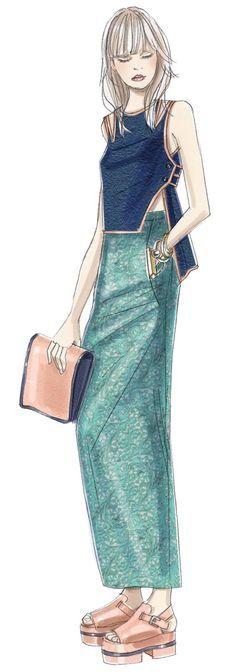 fashion illustration ♦️F&I♦️                                                                                                                                                                                 More