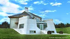 Дом на рельефе/ LIN-ART design studio