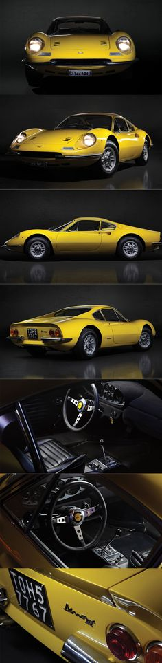 1970 Dino 246 GT L / 195hp / Italy / Ferrari / yellow  https://www.amazon.co.uk/Baby-Car-Mirror-Shatterproof-Installation/dp/B06XHG6SSY/ref=sr_1_2?ie=UTF8&qid=1499074433&sr=8-2&keywords=Kingseye