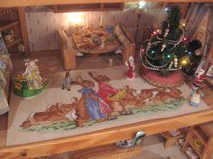Beatrix potter living room mat