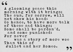 Romeo and Juliet quote | images of romeo and juliet by william ...