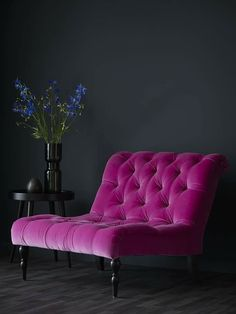 From sofa velvet sofa velvet couch deep pink violet vibrant color velvet upholstery arm ch&; From sofa velvet sofa velvet couch deep pink violet vibrant color velvet upholstery arm ch&; pfefferino pfefferino Anke Haus From […] decoration for home black Velvet Furniture, Home Furniture, Furniture Dolly, Casa Lea, Salons Violet, Pink Accent Walls, Traditional Sofa, Home Furnishings, Living Room Decor