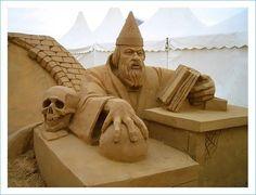esculturas na areia