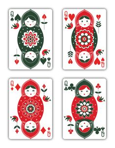 """Russian Folk Art """"Special Edition"""" is a beautiful deck of playing cards inspired by Russian Folklore. Printed by USPCC"""