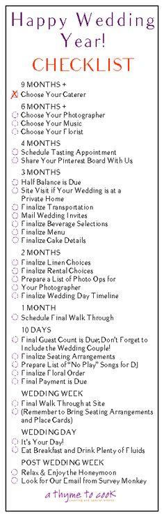 Planning Your Happy Wedding Year Checklist!