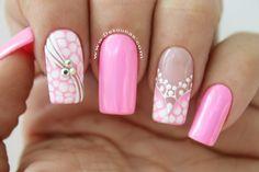 Christmas Nail Art Designs, Christmas Nails, Gel Nail Art, Gel Nails, Semi Permanente, Nail Art Designs Videos, Gel Color, Pedicure, Bloom