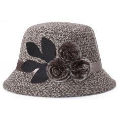 e7717203ef4 Womens Vintage Wool Felt Cloche Bucket Bowler Hat Winter Crushable Light  Brown CF189ZO05GA