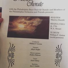 """New Jersey Master Chorale with the Philadelphia Boys Choir and Chorale and Members and Friends of the Philadelphia Prchestra and Friends performs Maurice Durufle's """"Requiem""""; W.A. Mozart's """"Regina Coeli""""; World Premier of Dr. William P. Gorton's """"Te Deum""""."""