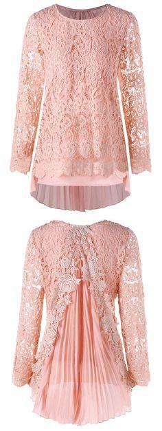 Plus Size High Low Pleated Lace Mini Dress