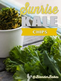 Sunrise Kale Chips from @PlantDietician via @BlenderBabes | This kale chips recipe from The Vegiterranean Diet provides the perfect tangy, crunchy, zesty bites of sunrise-colored nutrition! Although these delights are slowly baked or dehydrated for several hours, they are well worth the wait. You may want to make a few batches at a time because these kale chips will disappear quickly. A great, healthy, easy to make snack!