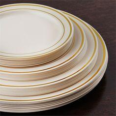 "Plate Measurements: Approx. 6"" diameter wide<br>Plate Quantity: 10 plates per order<br>Material: plastic"