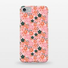 Fresh Strawberry phone case for iphone designed by Sarah Price Designs and sold through ArtsCase.com  iPhone 7 SlimFit Fresh Strawberries by Sarah Price Designs (strawberry,pattern,vector)