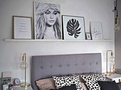 Shelf above headboard