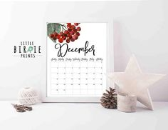 Calendar 2018, Getting Organized, Place Card Holders, Organization, Seasons, Handmade Gifts, Prints, Printable, Etsy