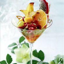 Hedelmäsalaatti seitsemällä eri reseptillä - Kotiliesi.fi Lassi, Fruit Salad, Martini, Acai Bowl, Dairy Free, Special Occasion, Gluten, Vegetables, Eat