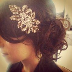 Vintage wedding hair by Emelya