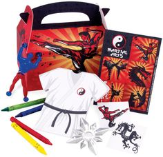 Karate Birthday Party Favors