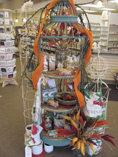 Display featuring Michel Design Works Cuba City Hometown Pharmacy