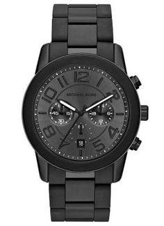 Black Michael Kors Stainless Steel Watch MK8322 @ Kranich's Jewelers.