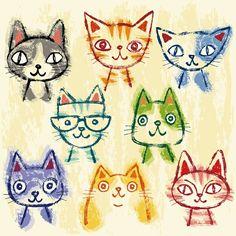 Many cats by Toru Sanogawa