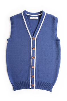 Mens knitted lambswool Vest with handmade oak buttons/sleeveless - Etsy