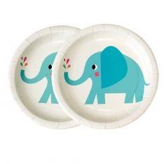 Pappteller Elefant Elvis ø 17.5 cm