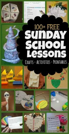 Free Sunday School Lessons for Kids - Bible Crafts, Activities, Printables