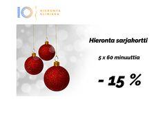 Joulukalenteri 7. luukku   Hieronta Leppävaara   Hieronta IO-Klinikka