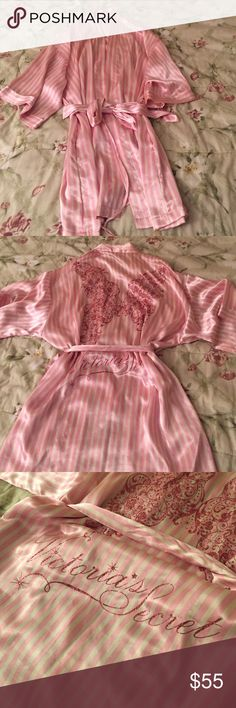 Victoria's Secret Fashion Show Robe So cute, silky, and sparkling. Very unique 2009 victoria secret fashion show robe and in almost new condition. Was a gift selling only because I hardly have used it. Victoria's Secret Intimates & Sleepwear Robes