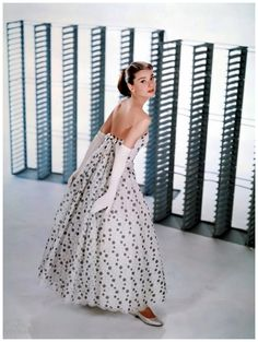 Audrey Hepburn modelling a Givenchy gown for Funny Face