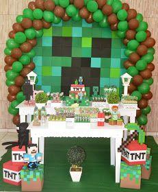 Este Ano O Tema Da Festa Do Bruno Foi Minecraft Um Jogo Que Virou