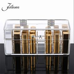 New Clear Acrylic 24 Grids Lipstick Holder Jewelry Display Stand Cosmetic Organizer Makeup Storage Bpx Case With Cover Dustproof-in Jewelry Packaging & Display from Jewelry & Accessories on Aliexpress.com | Alibaba Group