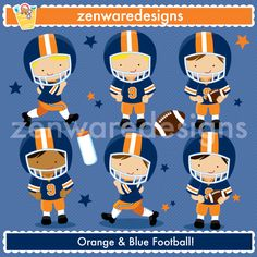 Description:  These cute little football players are ready to play! Popular team football graphics for the perfect sports party, tote bags and monogramming! This set is wonderful for party invitations and notepads! The simple lines are great for embroidery as well!     Planning an All-Star Party? Also see the Soccer,  Basketball Players,  Baseball Players & Cheerleader Sets!