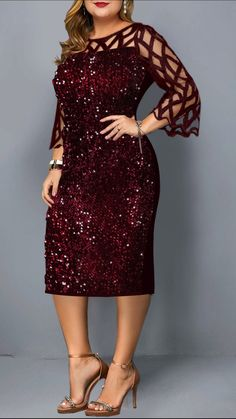 2019 Winter Plus Size Dress Outfits New Arrivals - Plus Size Fashion & Dress Plus Size Dress Outfits, Plus Size Holiday Dresses, Dresses For Christmas, Black Dress Outfits, Plus Size Cocktail Dresses, Christmas Outfits, Short African Dresses, Latest African Fashion Dresses, Ladies Fashion Dresses