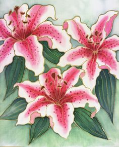 Silk Painting Exotic Flowers