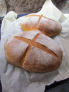 No Salt Recipes, Bread Recipes, Daily Bread, Baked Goods, Good Food, Brunch, Rolls, Food And Drink, Baking