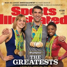 Sports: Michael Phelps Katie Ledecky and Simone Biles Unite for Sports Illustrated Cover