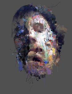 Sergio Albiac, Split live portrait - Generative & procedural system computer art.