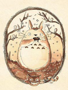 Totoro y su Ocarina by Akriel.deviantart.com on @deviantART