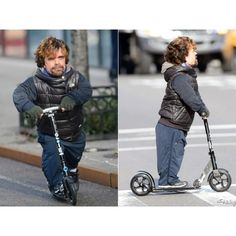 """Gotta love this shot of Tyrion on a kick scooter."" -- Mo Twister @djmotwister 